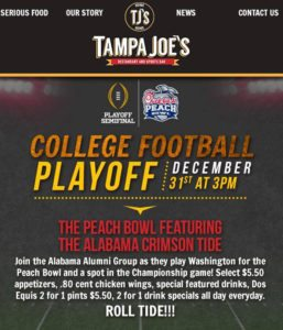 Alabama play off 12-31