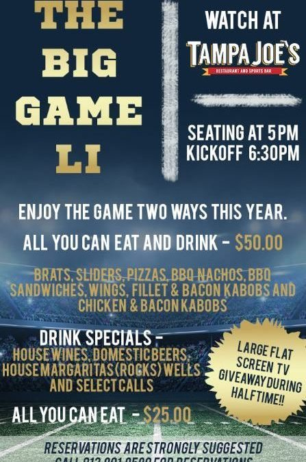 February 5, 2017 – The Big Game LI – Watch Party